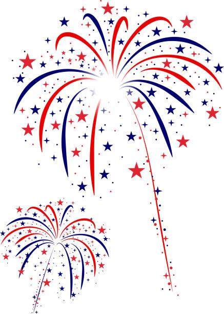 american flag theme fourth of july fireworks